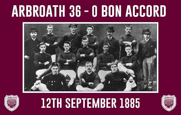Arbroath 36-0 Bon Accord, record celebrato
