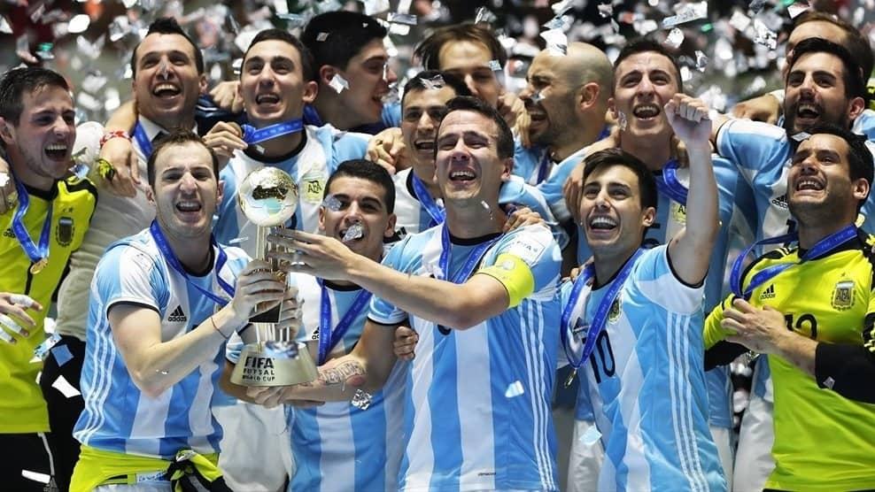 L'Argentina festeggia la vittoria del Mondiale nel 2016