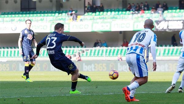 Birsa segna in Chievo - Pescara 2-0 del febbraio 2017