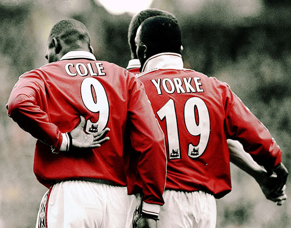 Andy Cole e Dwight Yorke Calypso Boys Manchester United