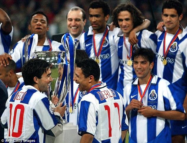 Deco festeggia la Champions League al Porto