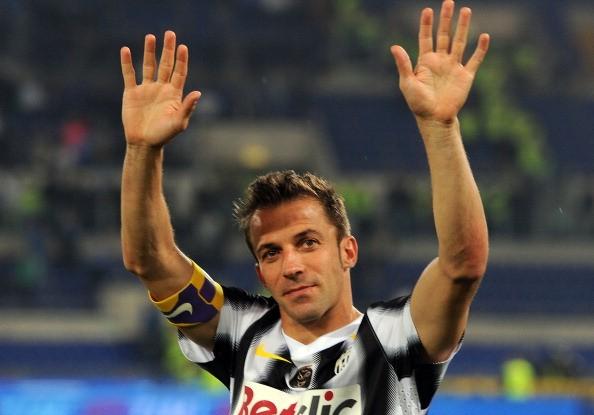 L'ultima serata di Alex Del Piero con la Juventus