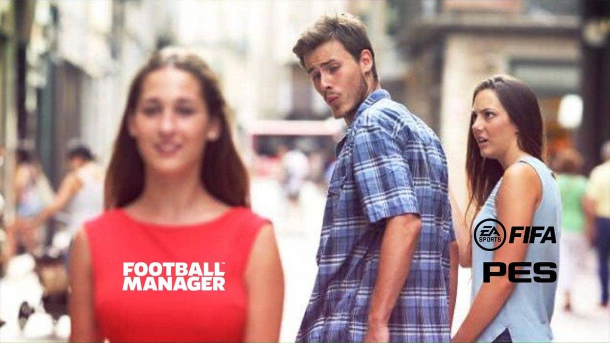 Football Manager vs Fifa e Pes