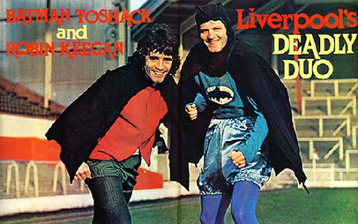 Keegan e Toshack calciatori Liverpool