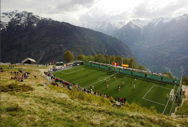 Ottmar Hitzfeld Stadion Gspon Svizzera