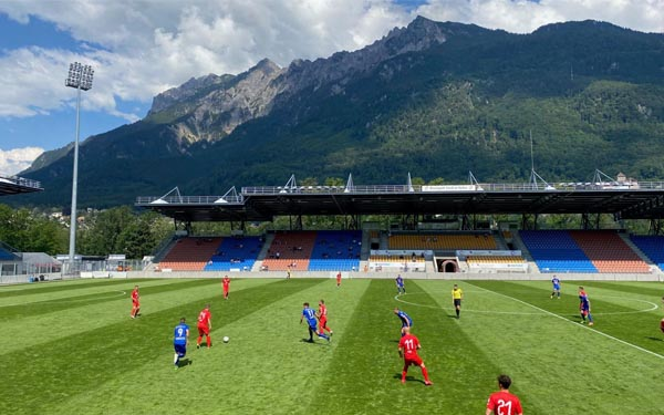 Il Rheinpark Stadium di Vaduz, Liechtenstein
