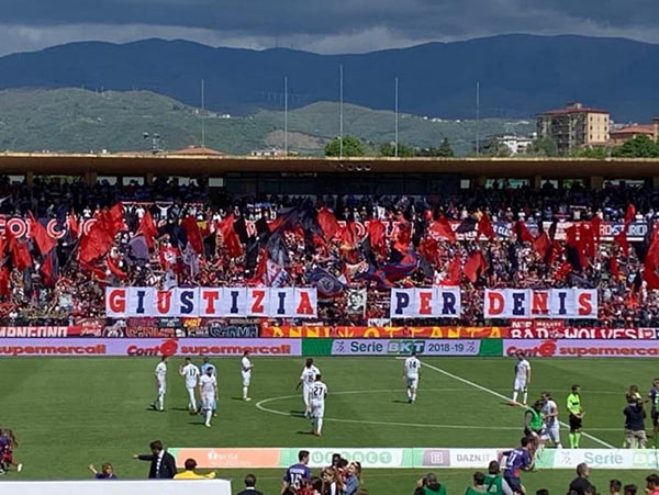 Giustizia per Denis Bergamini stadio Cosenza