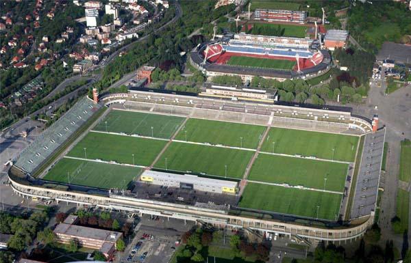 Velky Strahovsky Stadion Praga veduta dall'alto