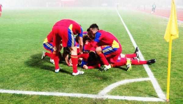 Cristian Martinez festeggia dopo il gol. San Marino Andorra 0-2