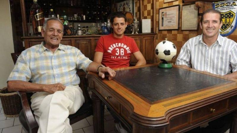 Javier Hernandez assieme al padre ed al nonno